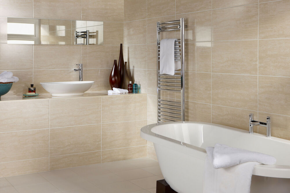 cream bathroom tiles 15 30m2 or sample dorchester travertine gloss 12583