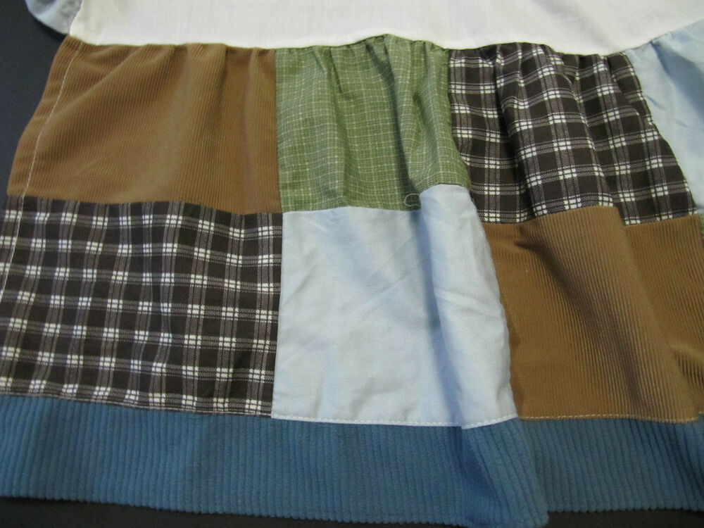 cocalo baby sports fan crib skirt great condition brown