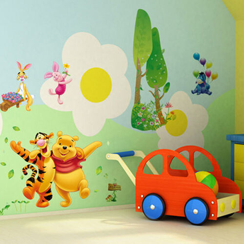 Winnie the pooh tigger friends decals decor wall sticker for Baby pooh and friends wall mural