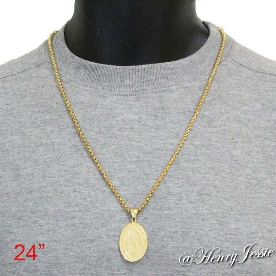 24 men 39 s stainless steel 3mm gold box link chain necklace. Black Bedroom Furniture Sets. Home Design Ideas