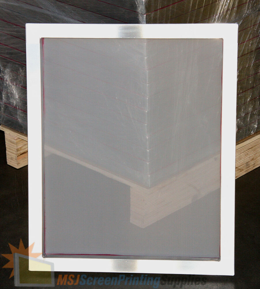 Silk Screen Screens : Pack aluminum frame size white mesh silk