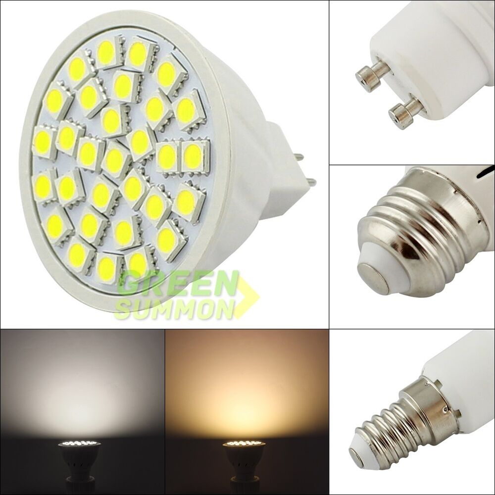mr16 e27 gu10 e14 led 30 smd 3w warm white light 12v 24v 110v 220v ac dc bulb ebay. Black Bedroom Furniture Sets. Home Design Ideas