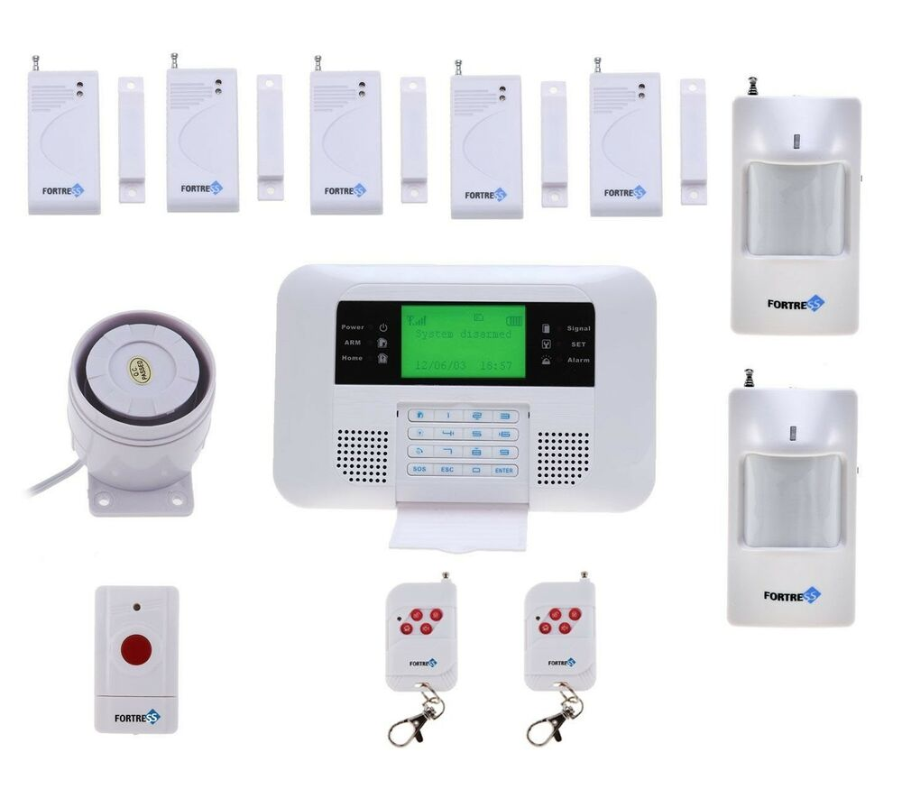 Fortress Wireless Security Alarm System GSM Contact Sensor ...