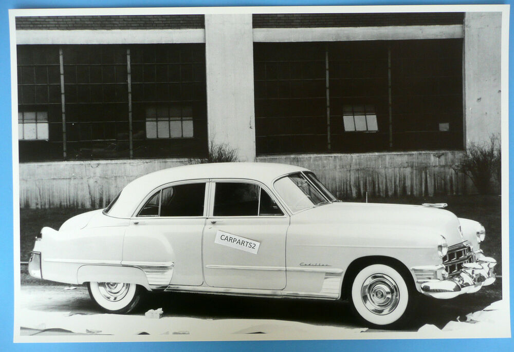 12 by 18 black white picture 1949 cadillac series 62 4 for 1949 cadillac 4 door