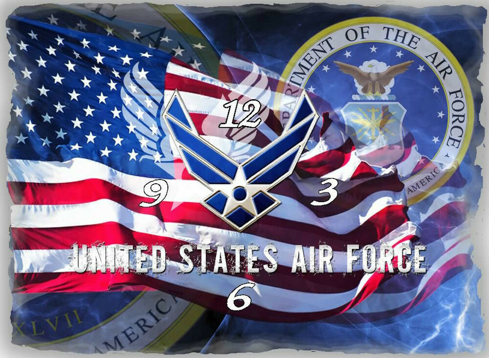 Great Man Cave Gifts : Us air force wall clock great for your man cave gr