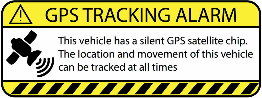 Car Tracking Device >> Warning GPS Tracking Alarm Decal Anti-Theft Decal Sticker ...