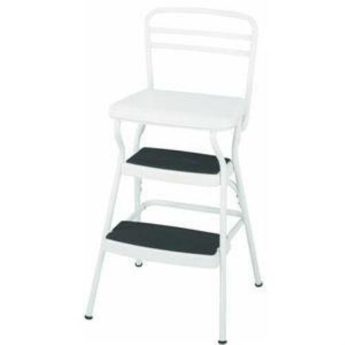 Kitchen Utility Step Stool Retro Lift Up Seat Bar Chair