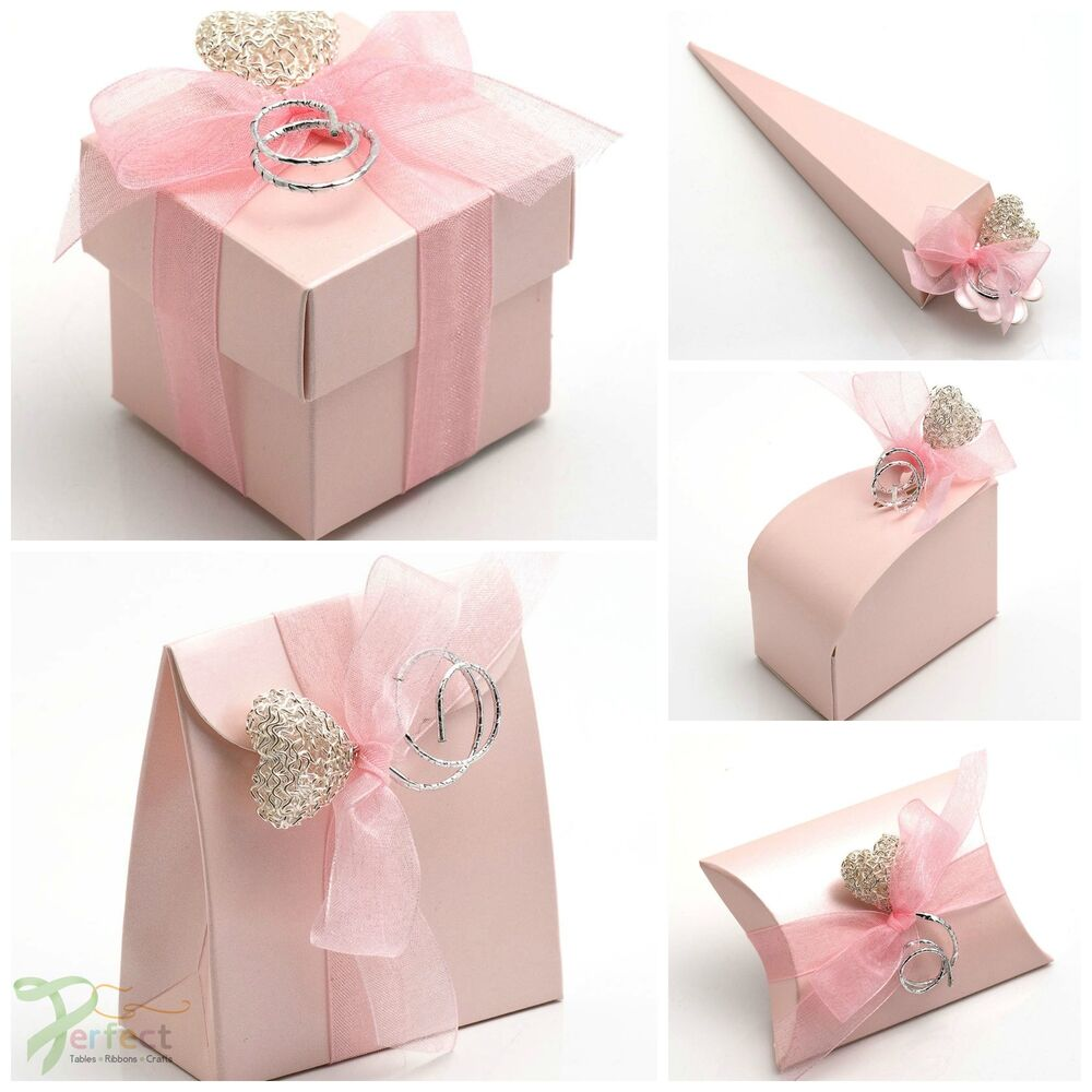 Luxury DIY Wedding Party Favour Baby Shower Gift Boxes Pearlised ...
