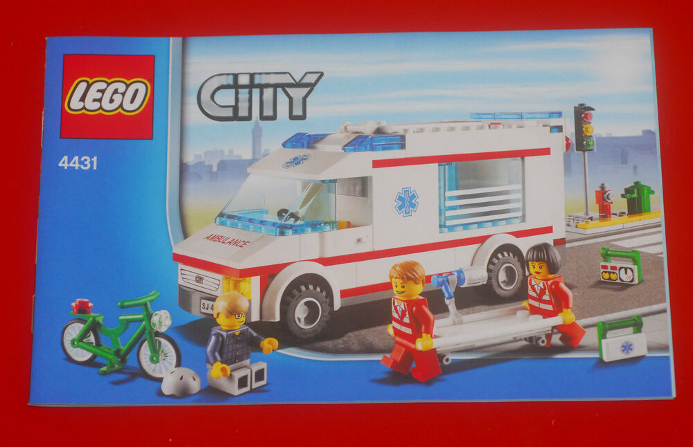 lego bauplan bauanleitung instruction manual city 4431 ambulance krankenwagen ebay. Black Bedroom Furniture Sets. Home Design Ideas