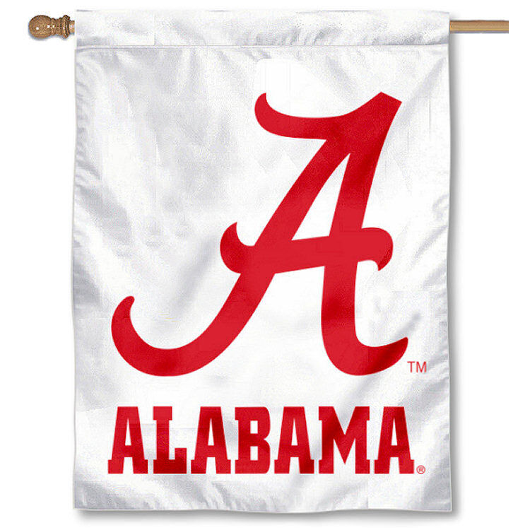 Alabama Crimson Tide White Banner Flag Ebay
