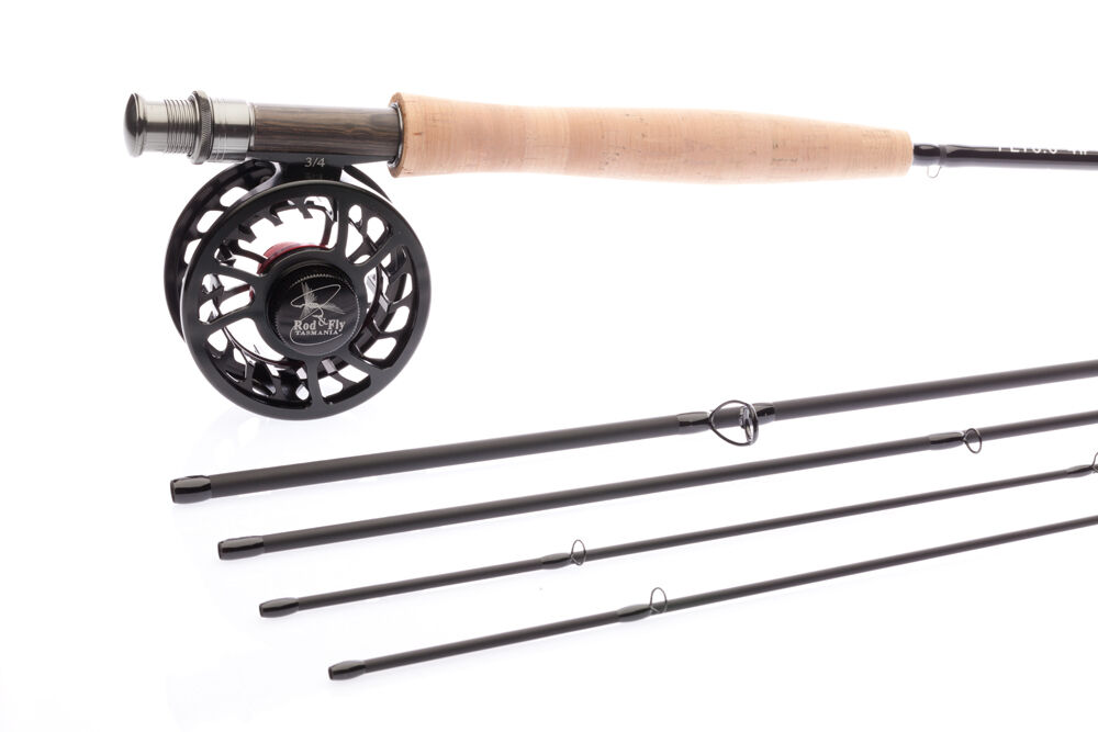 Fly fishing rod hi end combo 8ft lw4 4pc rod fly reel for Fly fishing combos
