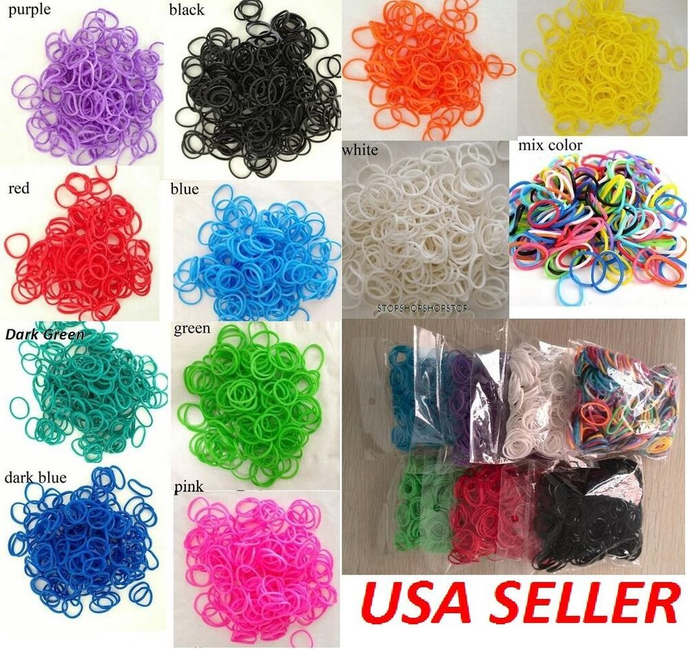 Rainbow Loom Refills All Colors 600 Rubber Bands Amp S Clips