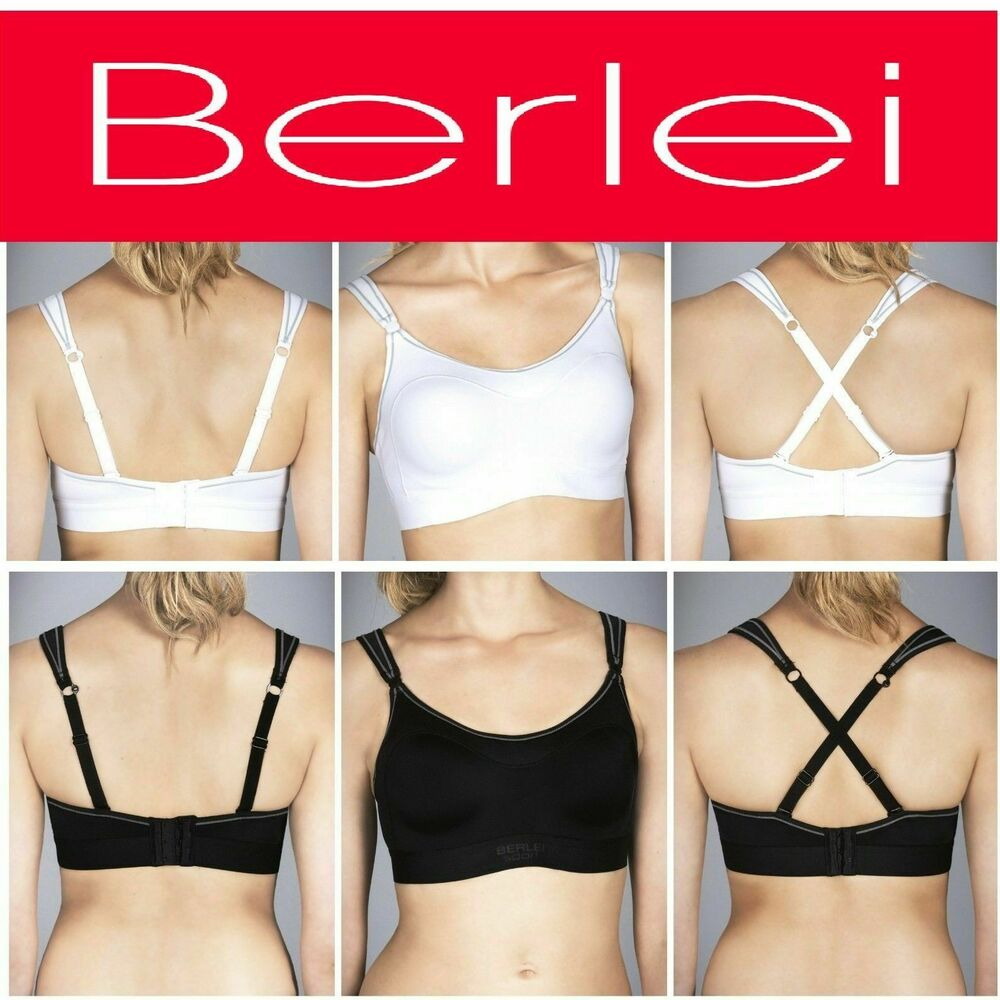 c4b22f6d261eb Details about BERLEI ULTIMATE PERFORMANCE SUPPORT SPORTS CROP TOP BRA BLACK  WHITE WOMENS BRAS