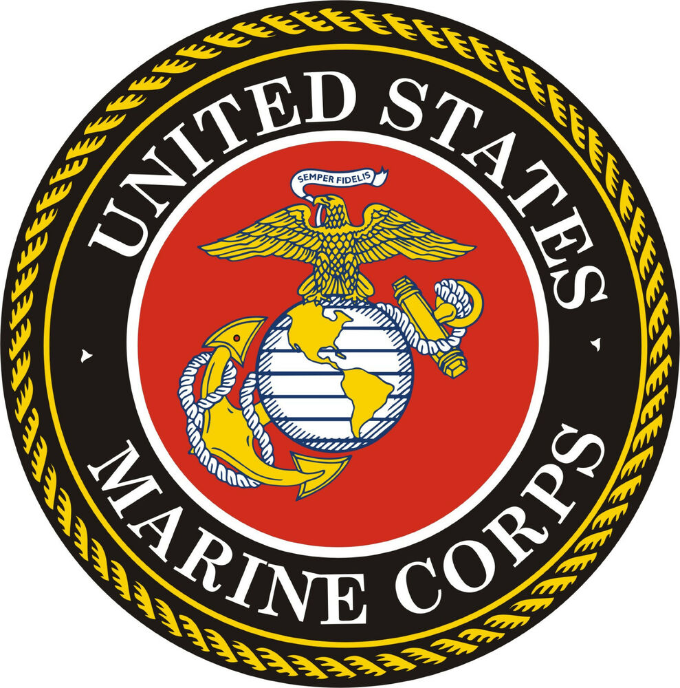 united states marine corps vinyl decal sticker 5. Black Bedroom Furniture Sets. Home Design Ideas