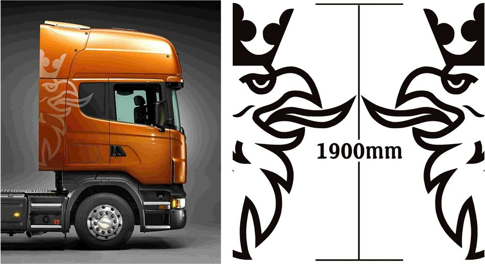 Scania Truck Griffin 2x Extra Large 1900mm High Logos In