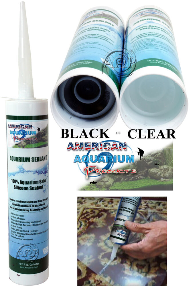 Silicone Aquarium Sealant Clear Or Black 10 2 Oz Fda