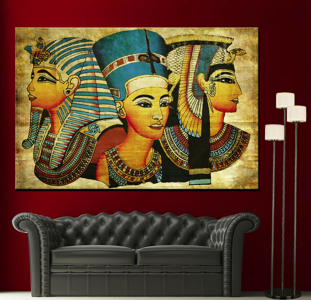 Canvas Old Egyptian Papyrus Decor Fine Home Wall Art