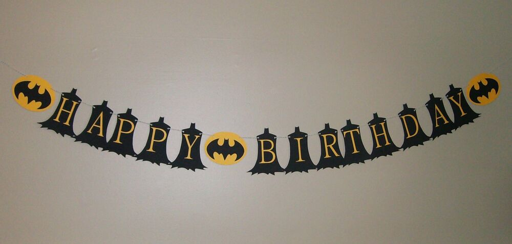and black happy birthday banner