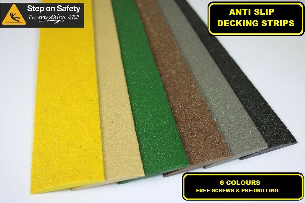 Anti slip decking strips for slippery decking walkways for Garden decking non slip