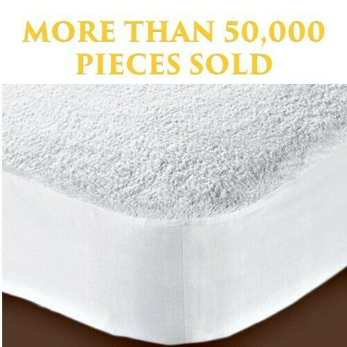 New Waterproof Terry Towel Mattress Protector Fitted Sheet