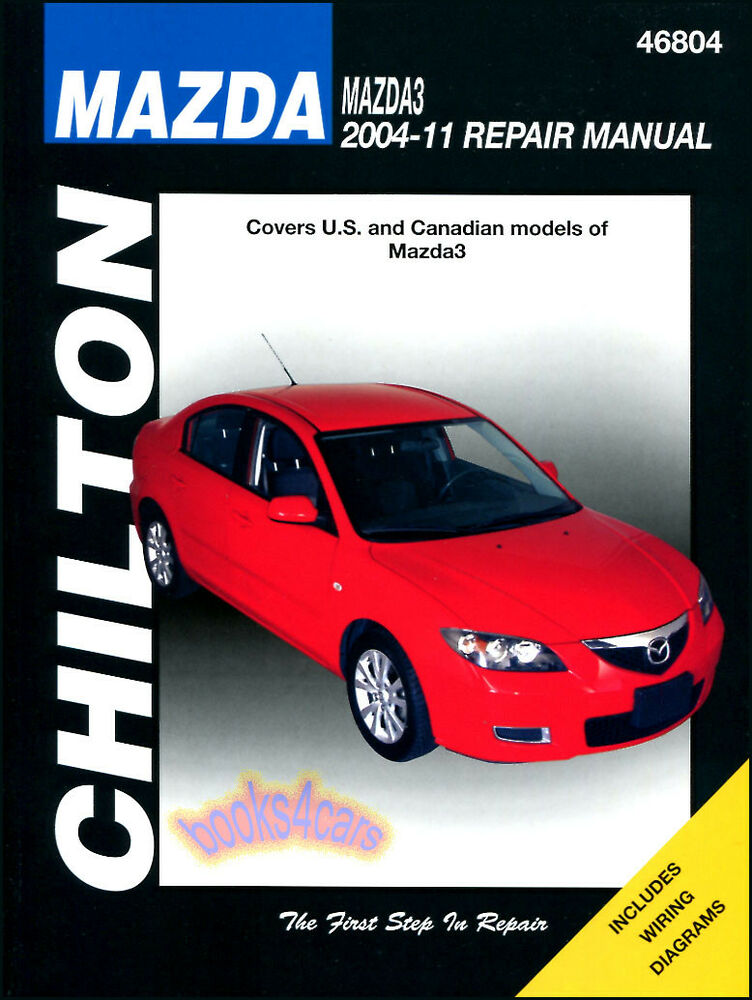 Mazda3 Shop Manual Service Repair Book Chilton Mazda 3