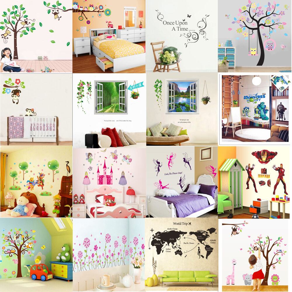 Hot sale diy vinyl wall stickers decal art mural for kids for Home decor items on sale