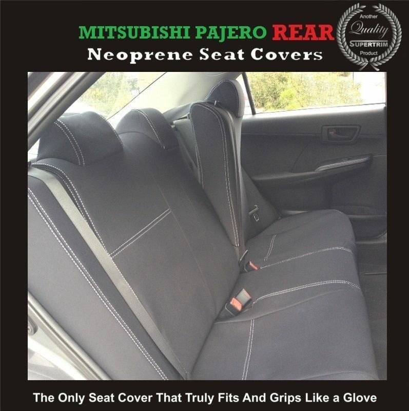 top mitsubishi pajero rear neoprene waterproof anti uv wetsuit car seat cover ebay. Black Bedroom Furniture Sets. Home Design Ideas