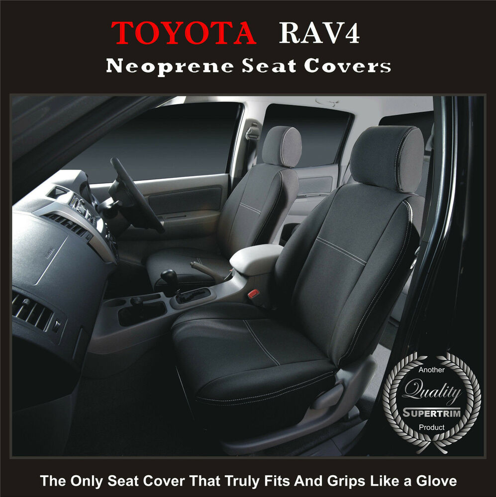 toyota rav4 front waterproof car seat covers 100 fit or your money back ebay. Black Bedroom Furniture Sets. Home Design Ideas