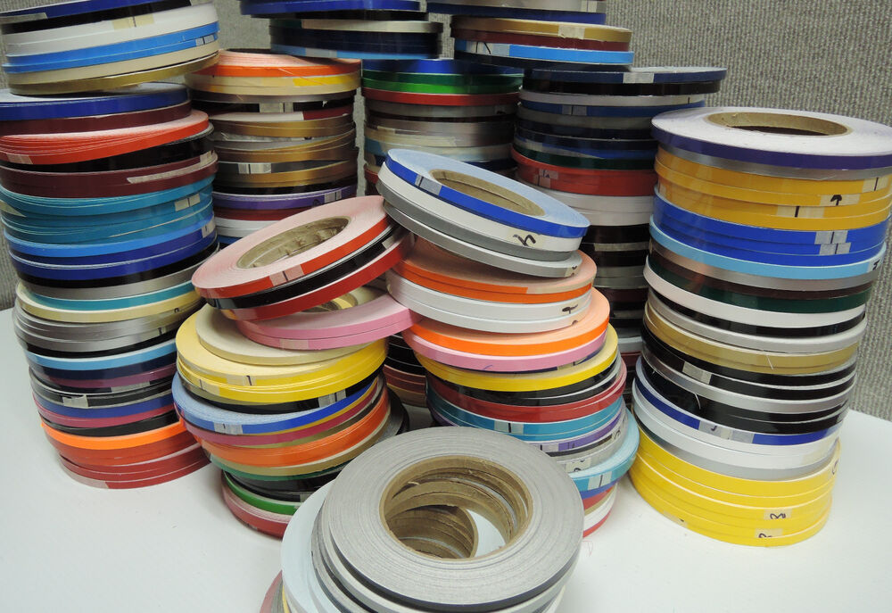 1 4 x 150 ft roll vinyl pinstriping vinyl striping tape 25 colors available ebay. Black Bedroom Furniture Sets. Home Design Ideas
