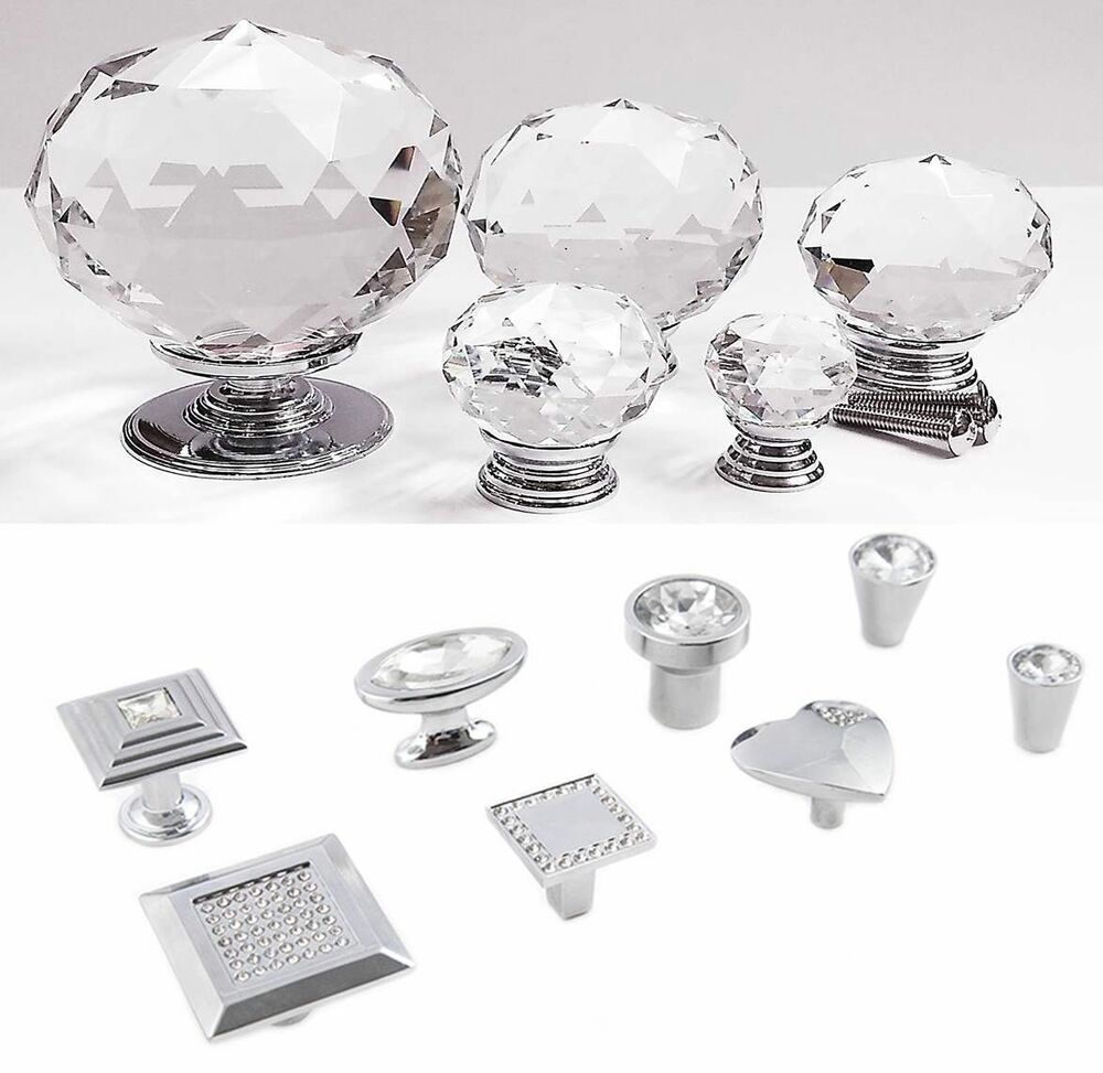 BEST Quality Crystal Glass Door Knobs Drawer Cabinet