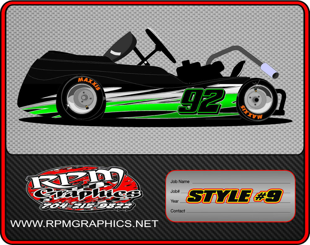 RACING GO KART WRAP WITH FRONT AND REAR NUMBERS, graphics, Wraps ...