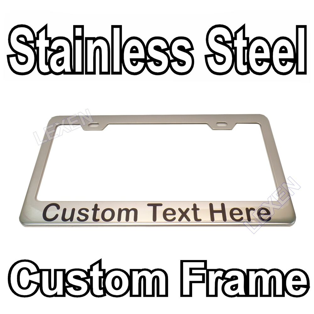 Custom Printed Chrome Stainless Steel License Plate Frame