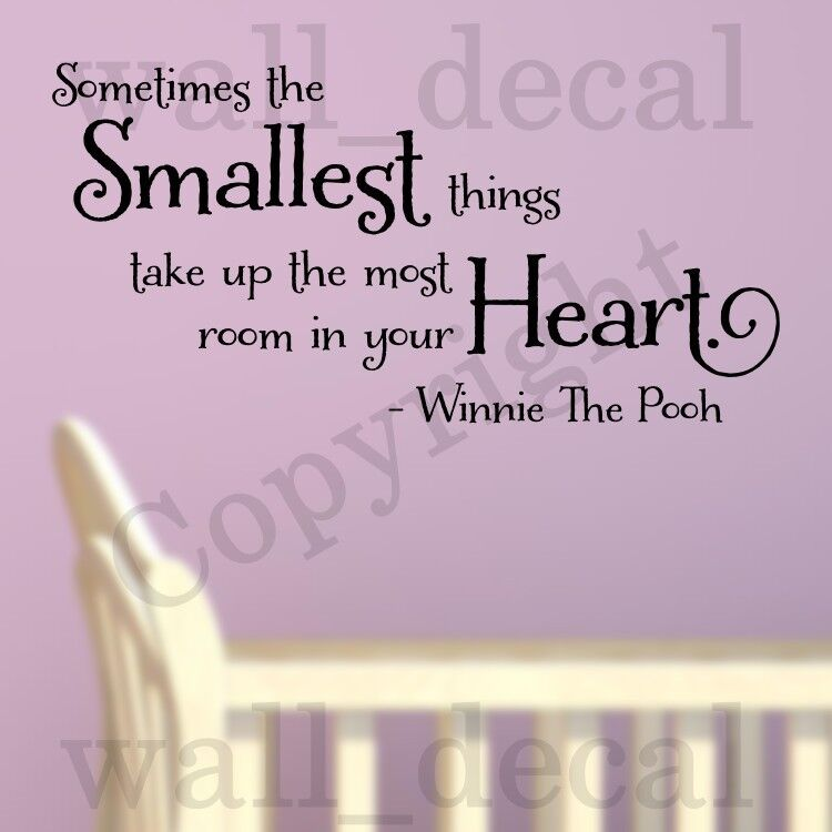 Winnie The Pooh Quotes Sometimes The Smallest Things: Sometimes The Smallest Things Wall Decal Vinyl Sticker