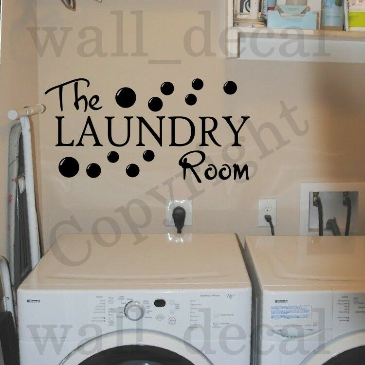 the laundry room vinyl wall decal sticker decor quote