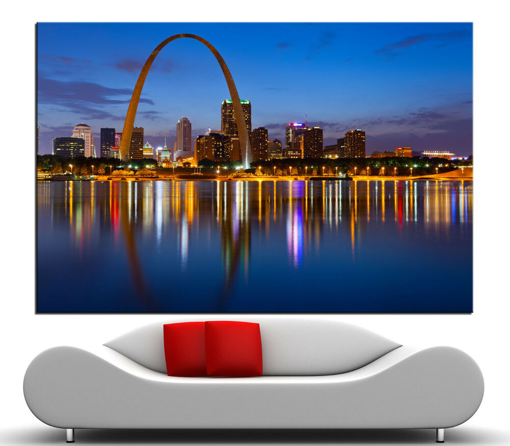 home decor stores in st louis mo st louis skyline canvas print wall home colorful 13363