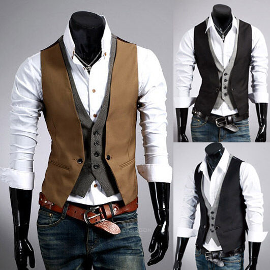 Sportides Men's Casual Gilet Waistcoat Hoodie Sleeveless Sweatshirt JINIDU Mens Business Suit Vest Casual Lapel Plaid Skinny Waistcoat Sleeveless Jacket. by JINIDU. $ - $ $ 15 $ 32 99 Prime. FREE Shipping on eligible orders. Some sizes/colors are Prime eligible. out of 5 stars 3.