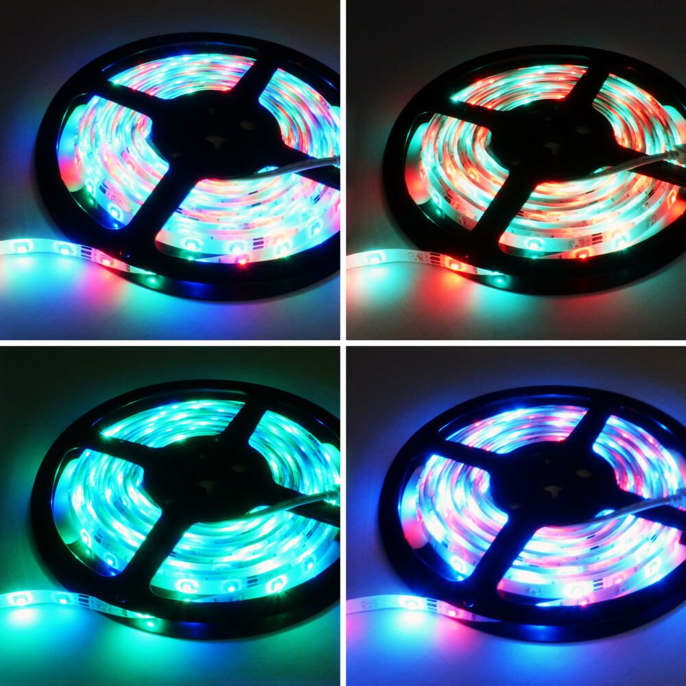 5m 300 led strip rgb light 5050 waterproof 3528 smd. Black Bedroom Furniture Sets. Home Design Ideas