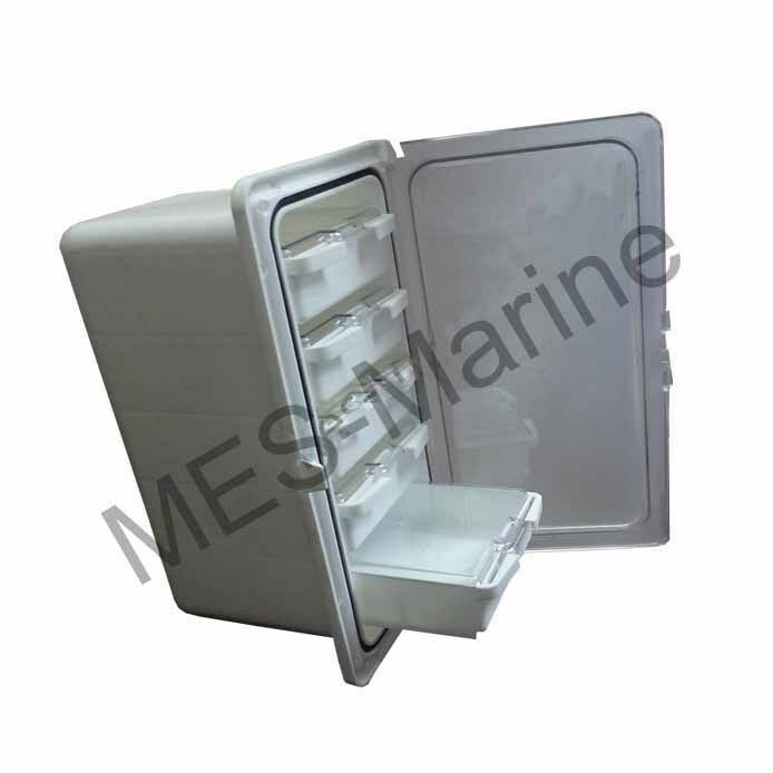 Watertight boat fishing tackle storage box with 5 draws for Boat mailbox