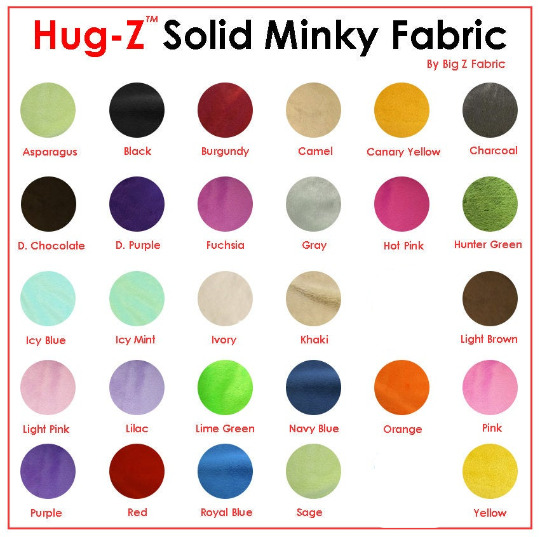 Solid minky fabric 58 60 width smooth baby soft minky for Baby fabric by the yard