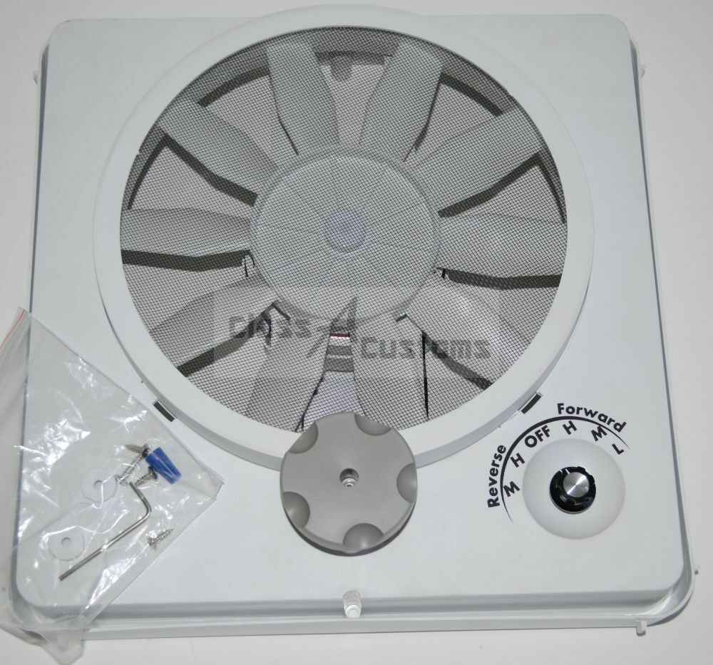 RV VORTEX II - 5 SPEED replacement roof vent fan upgrade ...