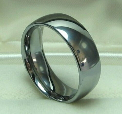 men 8mm titanium comfort fit ring size 12 wedding band ebay
