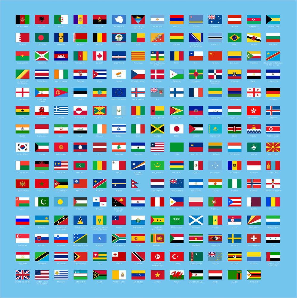 World Flags Choose Your Flag Country Vinyl Decal