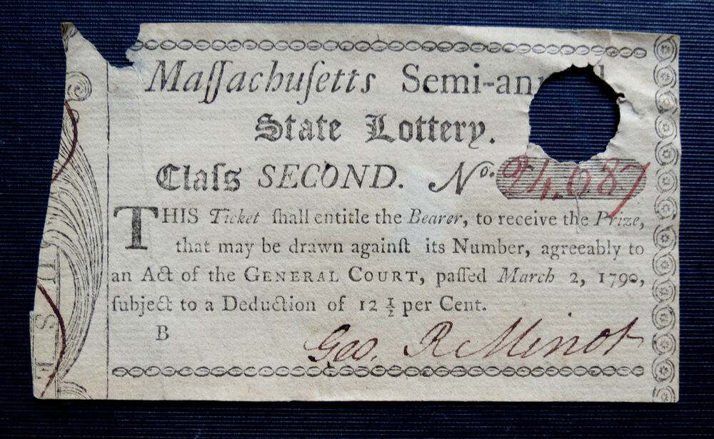 1790 massachusetts lottery ticket semi annual lottery ebay. Black Bedroom Furniture Sets. Home Design Ideas