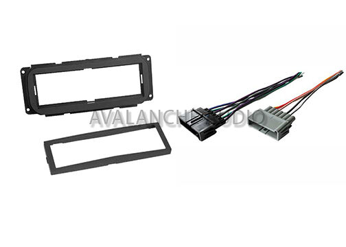 chrysler dodge jeep dash car stereo radio installation kit w   wiring harness set
