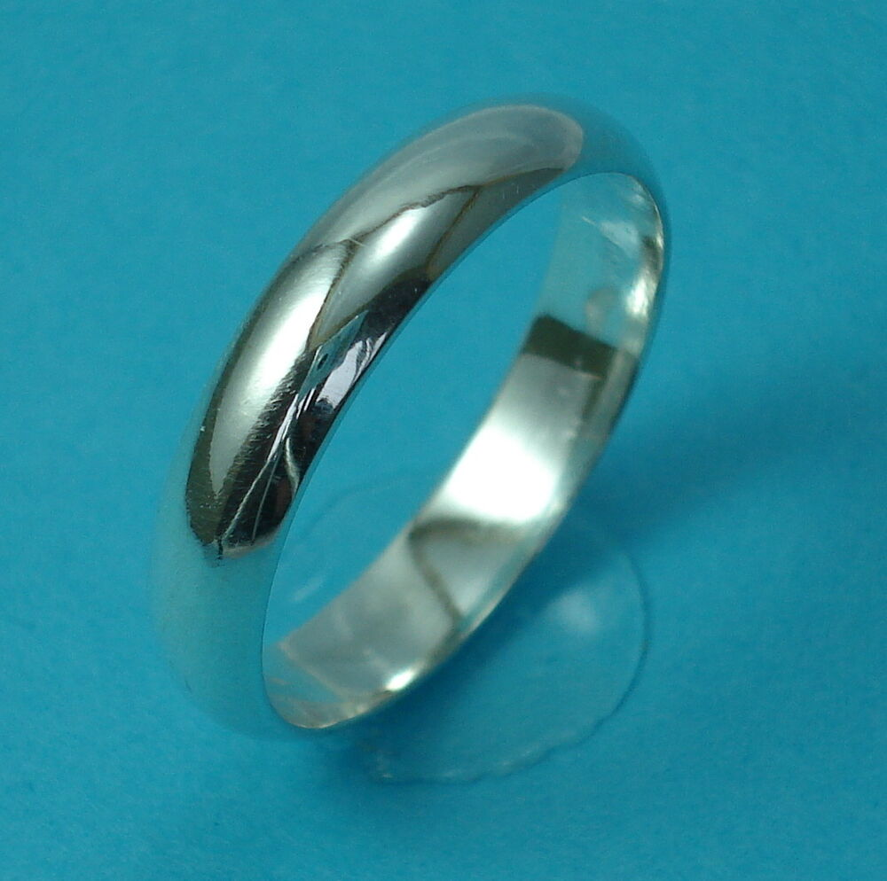 new solid 925 sterling silver 4mm wedding band thumb ring