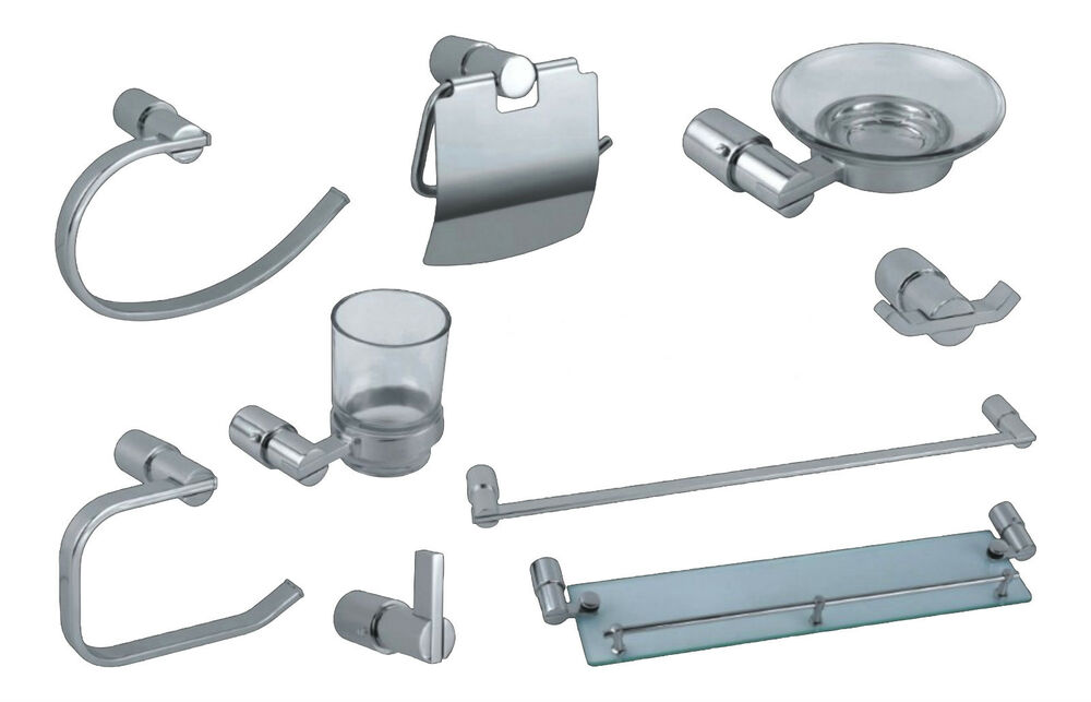 Wall mounted chrome bathroom accessories choice of 8 and for L k bathroom fittings