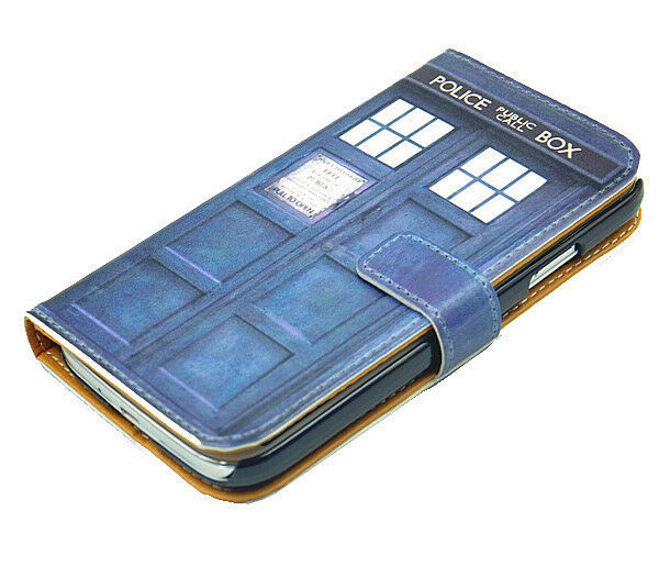 Doctor Who Tardis Leather Wallet Card Flip Pouch Case For Samsung ...