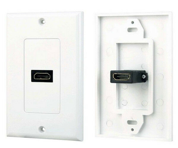Port hdmi wall face plate panel cover coupler outlet