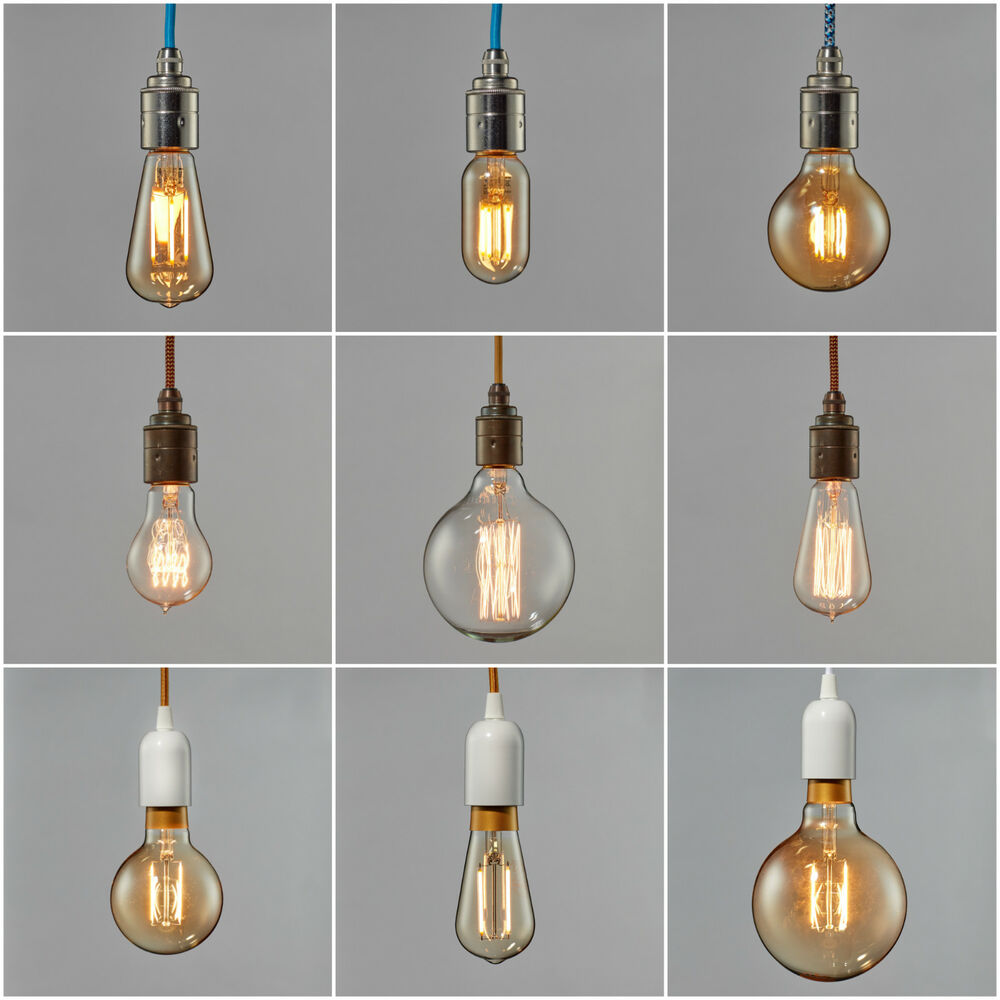 Filament Light Bulb Edison Vintage Squirrel Cage Decorative Antique Industrial Ebay