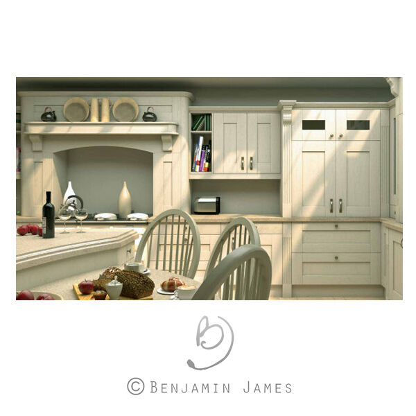 Cream Kitchen Doors: Shaker Kitchen Doors Oakgrain Cream